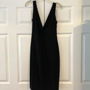 Simple Black V-Neck Night Out Dress
